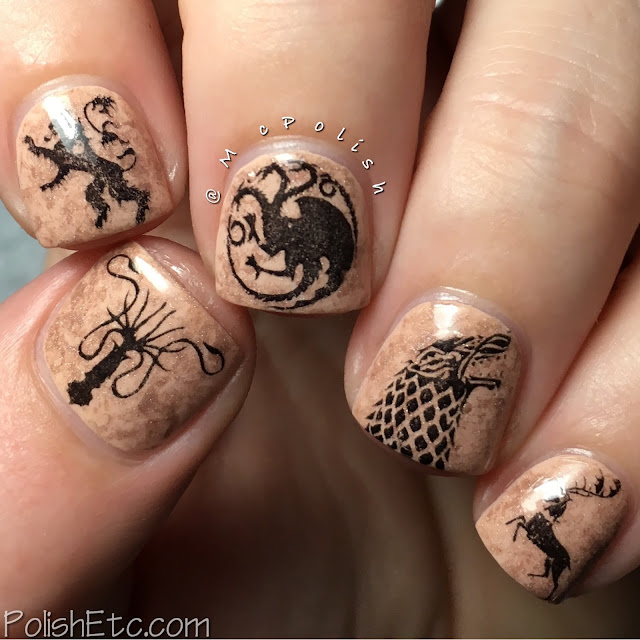 Inspired by A Song of Ice and Fire - Game of Thrones nails - McPolish - #31dc2016Weekly