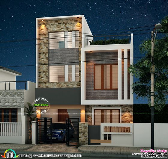 1800 sq-ft, 4 bedroom modern box type home