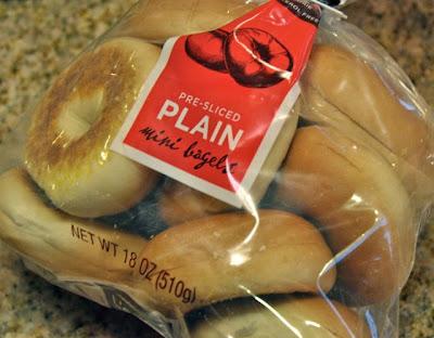 pre-sliced plain mini bagels