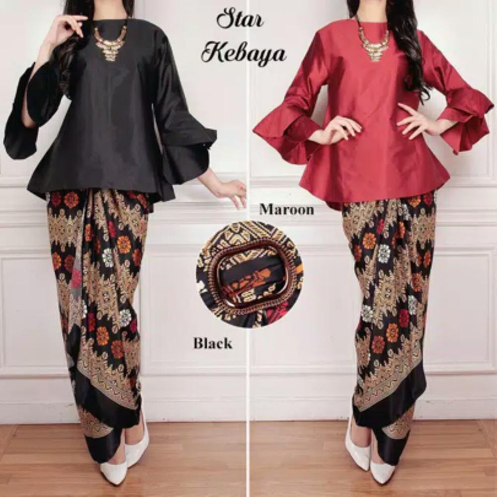 Model Dress Brokat Lengan Lonceng Gamis Brokat
