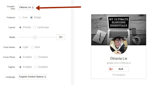 Cara Pasang Tombol Widget Google+ Badge di Blog
