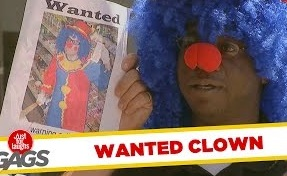 Funny Video – Wanted Clown, Cop Gets Hurt & Puzzle Master Pranks