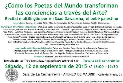 Resultado de imagen de ¿Cómo los poetas del Mundo transforman las conciencias a través del arte?. Ateneo de Madrid Sept-2015
