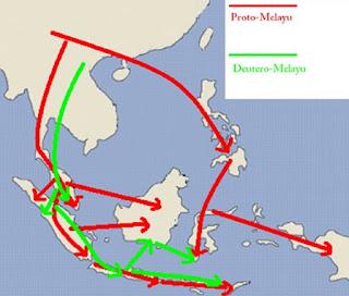 Gambar Peta Persebaran Bangsa Proto Melayu dan Deutro Melayu