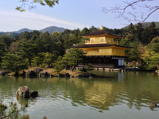 golden pavillion temple in Kyoto, japan