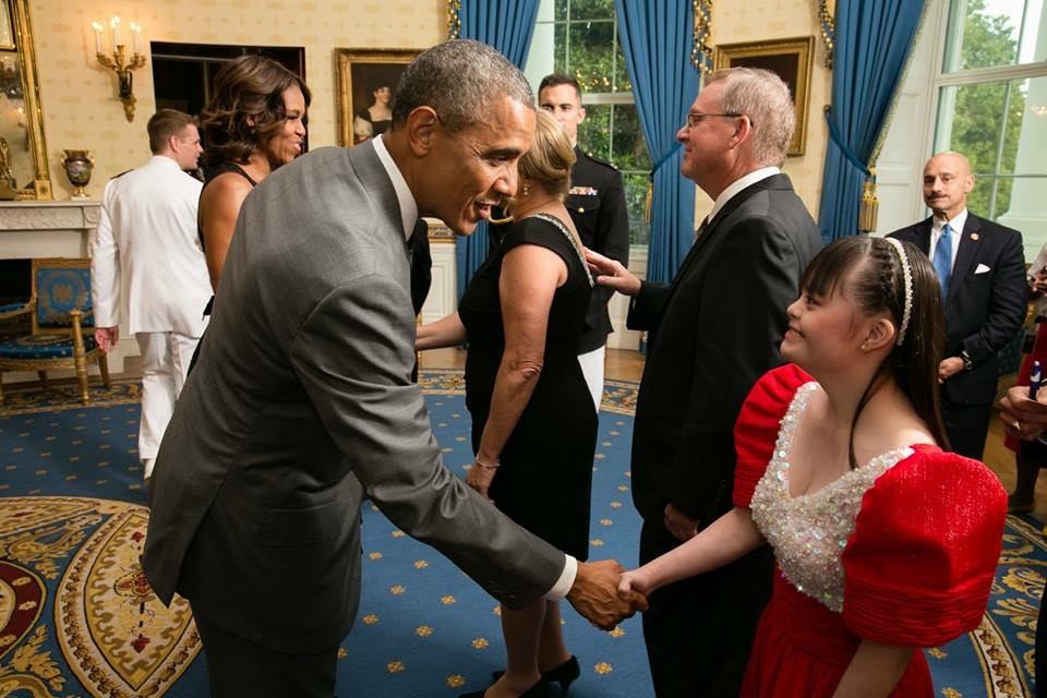 Brina was invited by US President Barack Obama to the White House