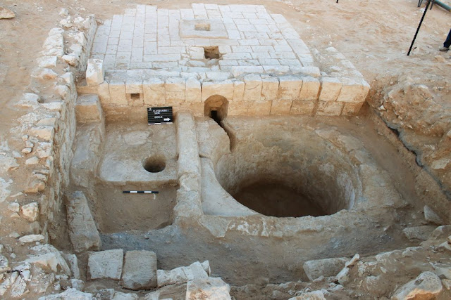 Large Byzantine era wine press uncovered in Israel