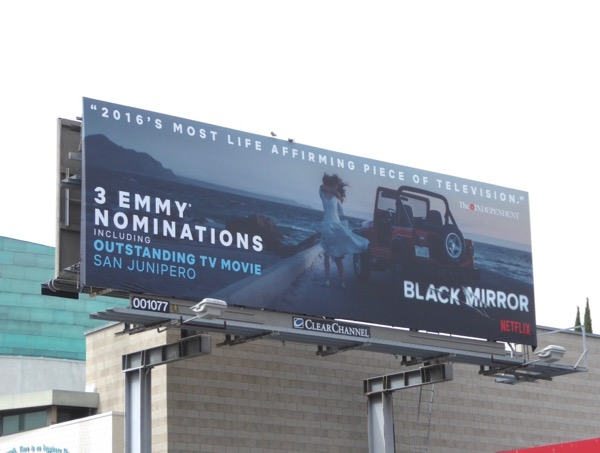 Black Mirror 2017 Emmy nominee billboard