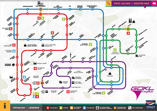 Free GoKL Bus route, Awesome Ways to Explore the Best of Kuala Lumpur