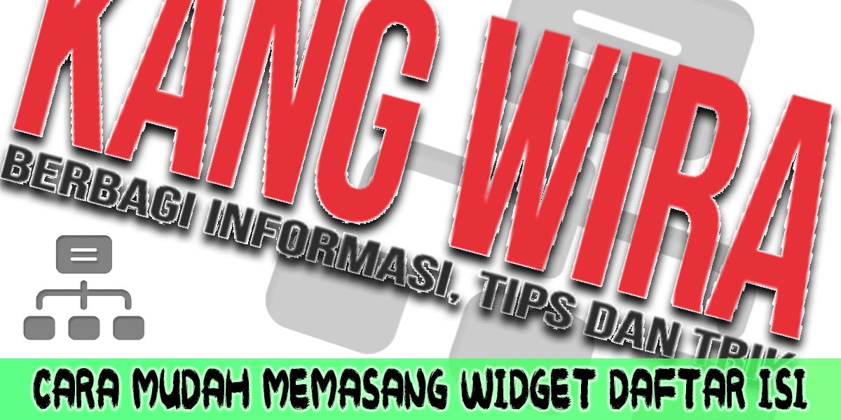 Memasang Widget Sitemap Blogger