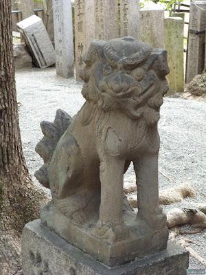 神津神社六社神社狛犬