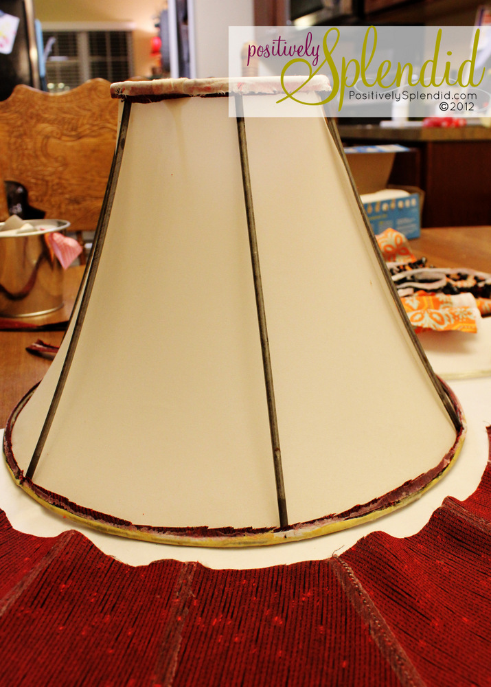 How to Recover a Lampshade - Positively Splendid {Crafts ...