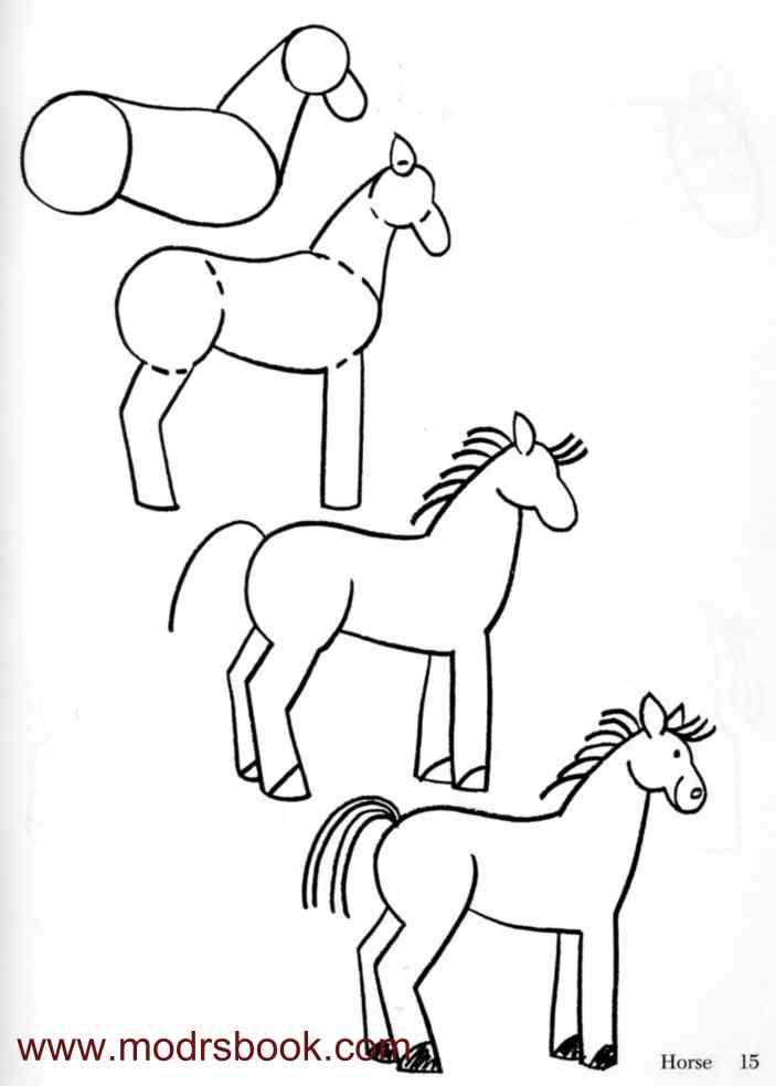 - Dessiner un cheval facilement ...