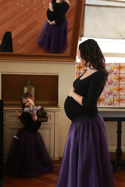 baby shower kostüm, anne kız kombin