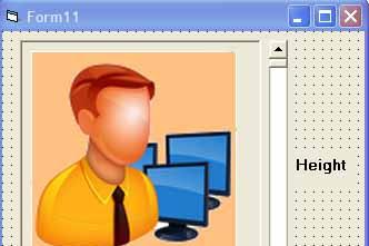 Cara Merubah Ukuran Image di VB6 menggunakan HScrollBar dan VScrollBar