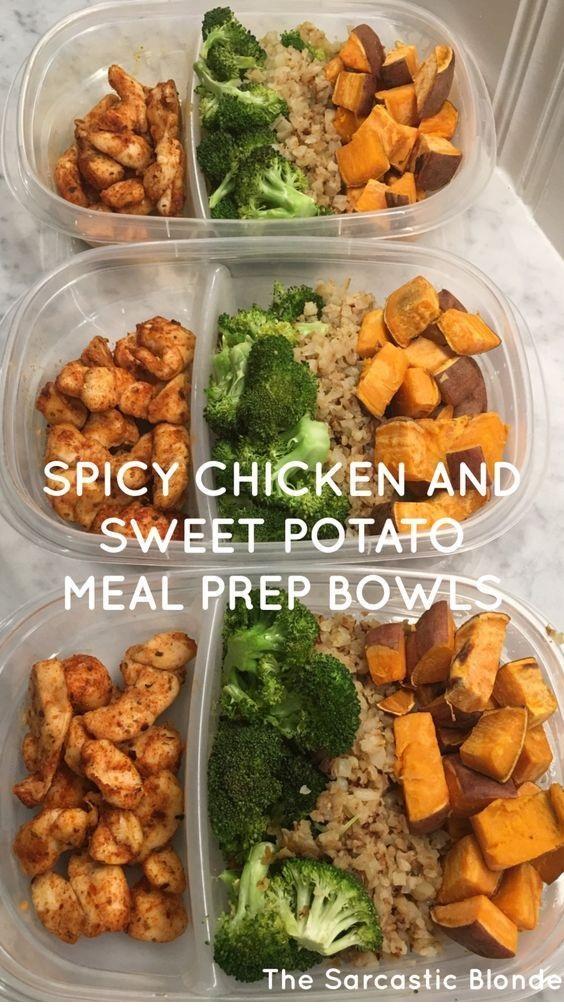 Spicy Chicken + Sweet Potato Bowls