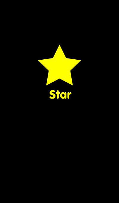 Simple Star in Black theme
