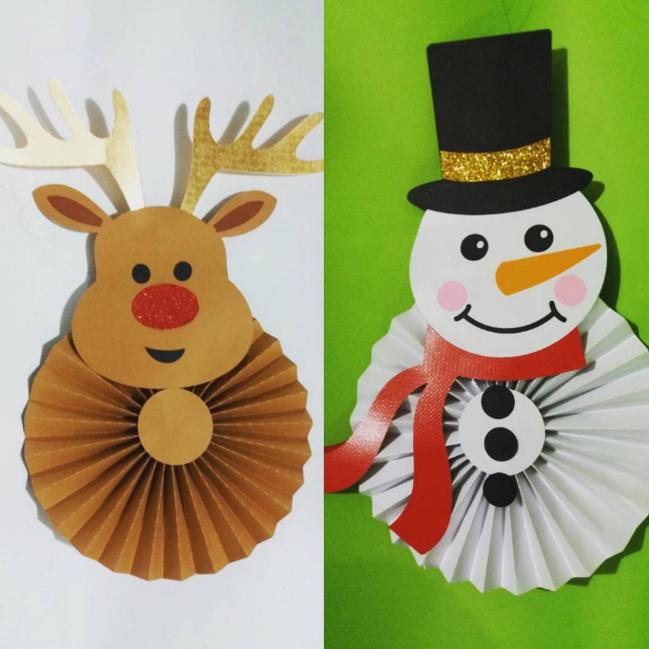 Ideas para decorar con rosetones de papel 101 - Adornos de navidad con cartulina ...