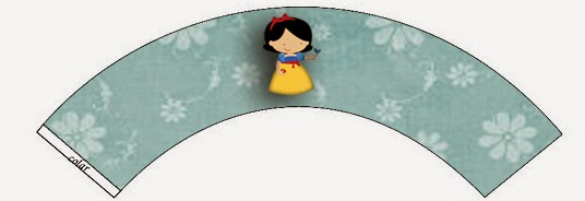 Wrappers para Cupcake para Imprimir Gratis de Blancanieves Nena.