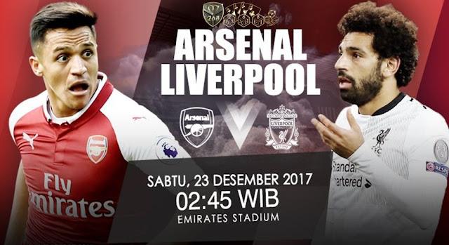 Prediksi Bola : Arsenal Vs Liverpool , Sabtu 23 Desember 2017 Pukul 02.45 WIB @ RCTI