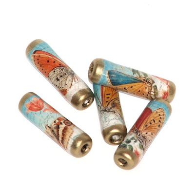 butterfly paper beads