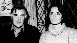 Ted Hughes and his second wife Carol Orchard