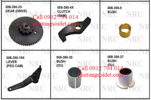 Bush 008-390-5 Lever (Peg cam) 008-390-19X Bush (Du) 008-390-25 Bush (Du) 008-390-27 Bush (Du) 008-390-30 Housing (Bearing) 008-410-16