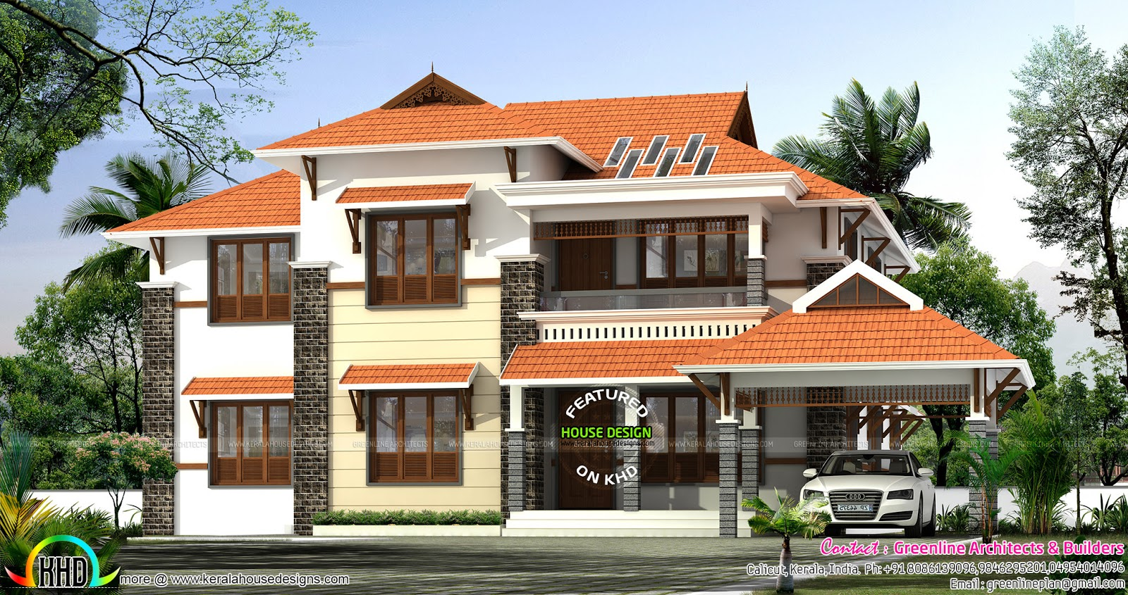 Modern House Designs Slopes 2390 Sq Ft Modern Sloping Roof