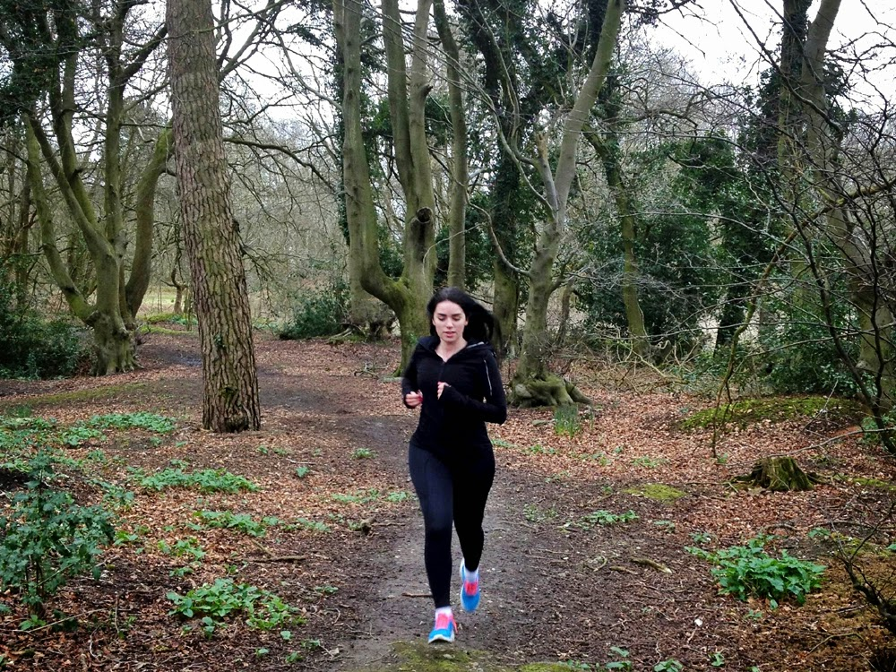 Running in Boom Boom Athletica in the Oxfordshire countryside