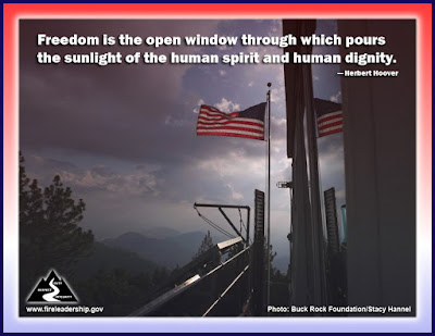 Freedom is the open window through which pours the sunlight of the human spirit and human dignity. – Herbert Hoover