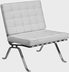 Modern White Lounge Chair