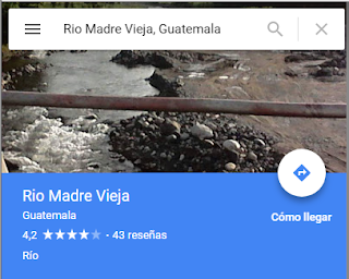 Río Madre Vieja, Guatemala
