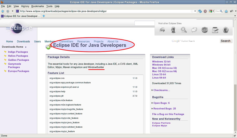 jcafe info: WindowBuilder Pro in Indigo