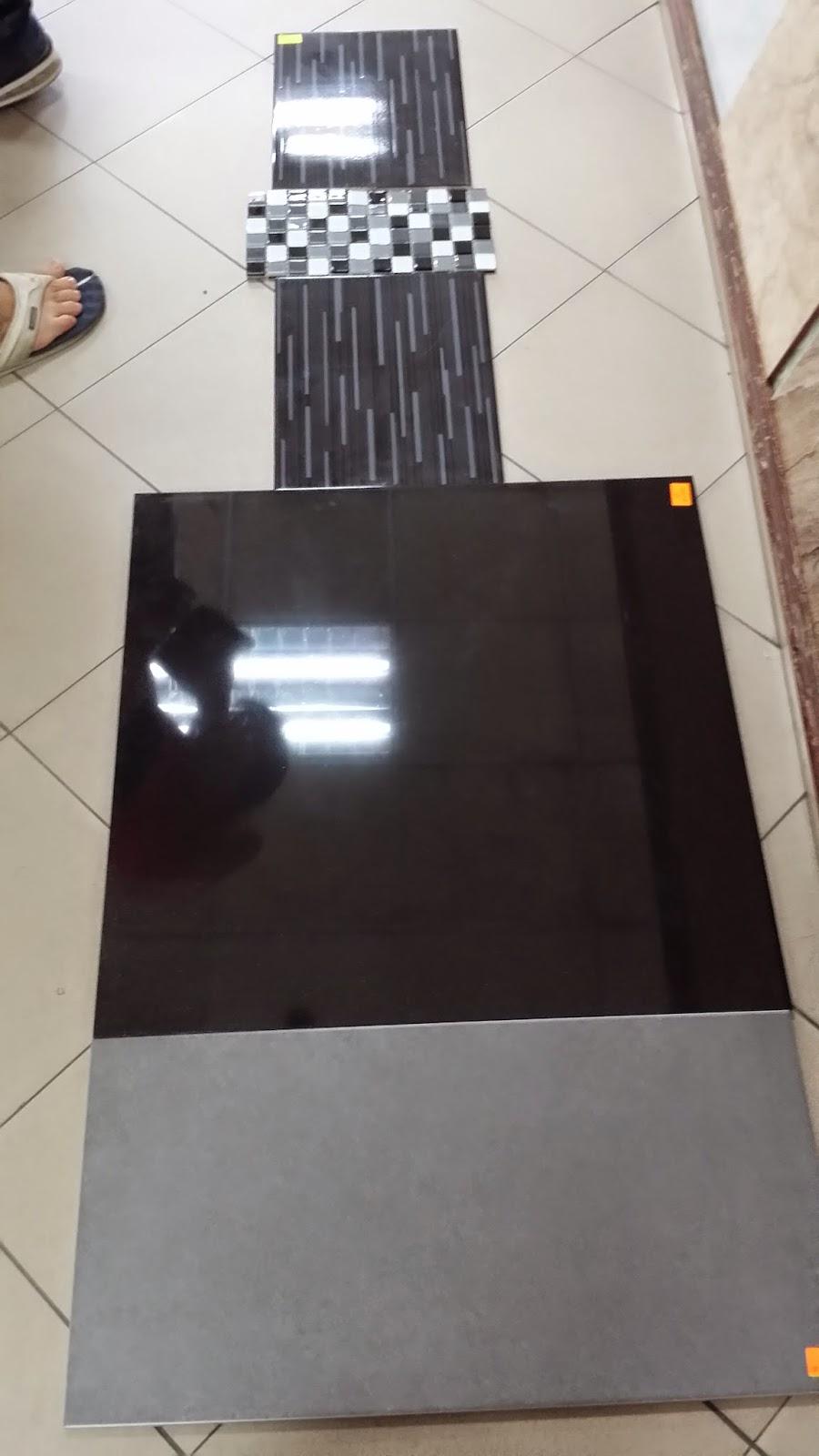 Kami Sepakat Pilih Kombinasi Gmbr Ke 2 Sbb Nmpk Lbh Ok Tiles Corak Jalur2 Gl Mosaic Utk Dinding Hitam Bsr Ada Tp X Dlm Table