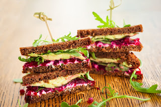Beet, Arugula & Goat Cheese Grilled Cheese