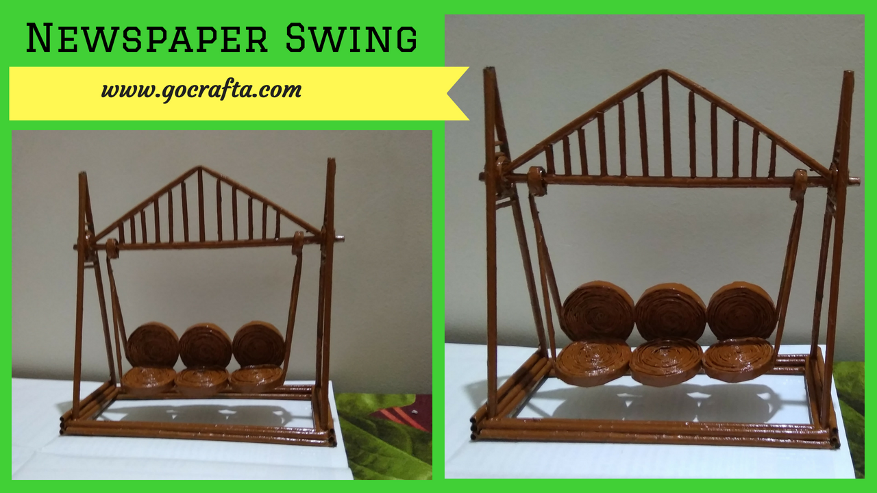 How To Make Swing Jhula With Paper At Home Gocrafta Art And Craft