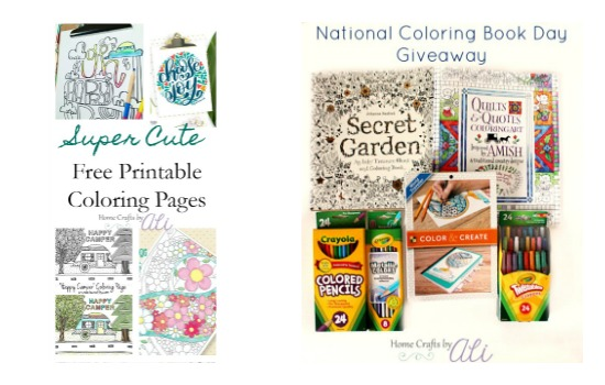 Recent Post from Home Crafts by Ali - free printable coloring pages and Coloring Book Giveaway
