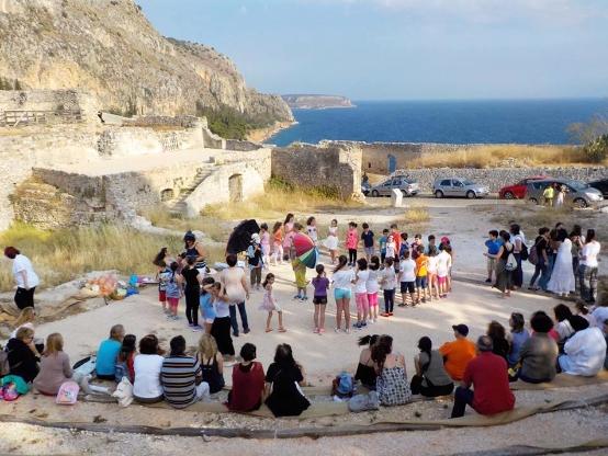 """Γιορτής λήξης του προγράμματος """"Εκπαιδεύοντας το κοινό στο Αρχαίο Δράμα"""" στην Ακροναυπλία"""