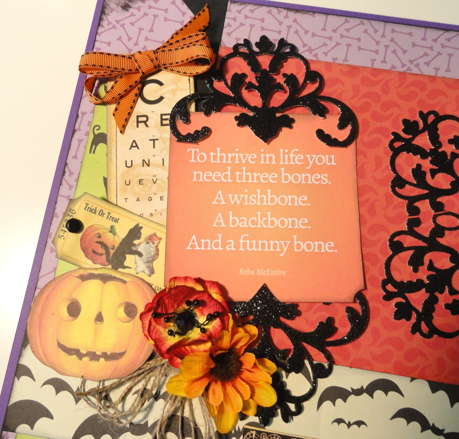 Scrapbook ideas no pictures - Wanted To Share Just A Few Halloween Inspired Scrapbook Layouts I Made Last Weekend I Say Halloween Inspired Because There Will Be No Trick Or Treating