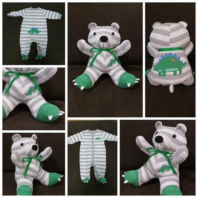 Baby Clothes Stuffed Keepsake Teddy Bear Crazzy Craft
