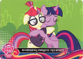 My Little Pony Moondancer Embraces Friendship Equestrian Friends Trading Card