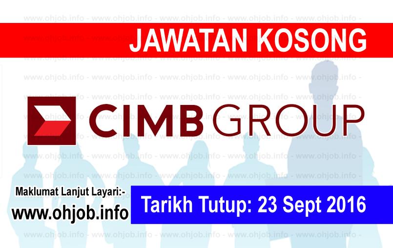 Jawatan Kerja Kosong CIMB Group logo www.ohjob.info september 2016