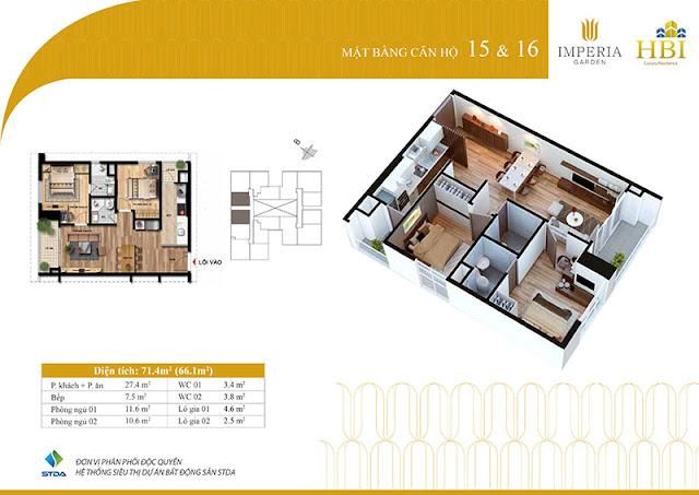 Thiết kế căn hộ 15 16
