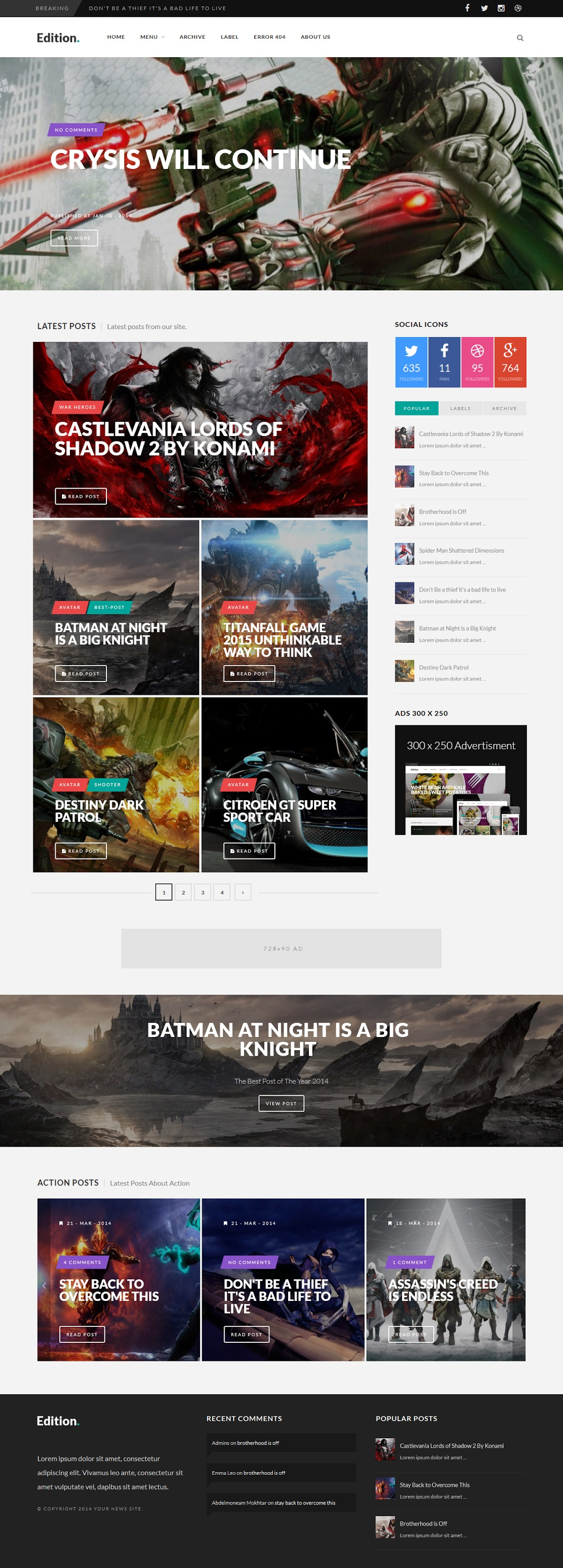 Edition Responsive Blogger Template Demo