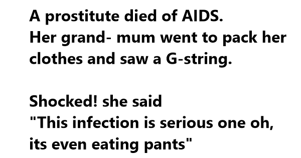 aids jokes one liners