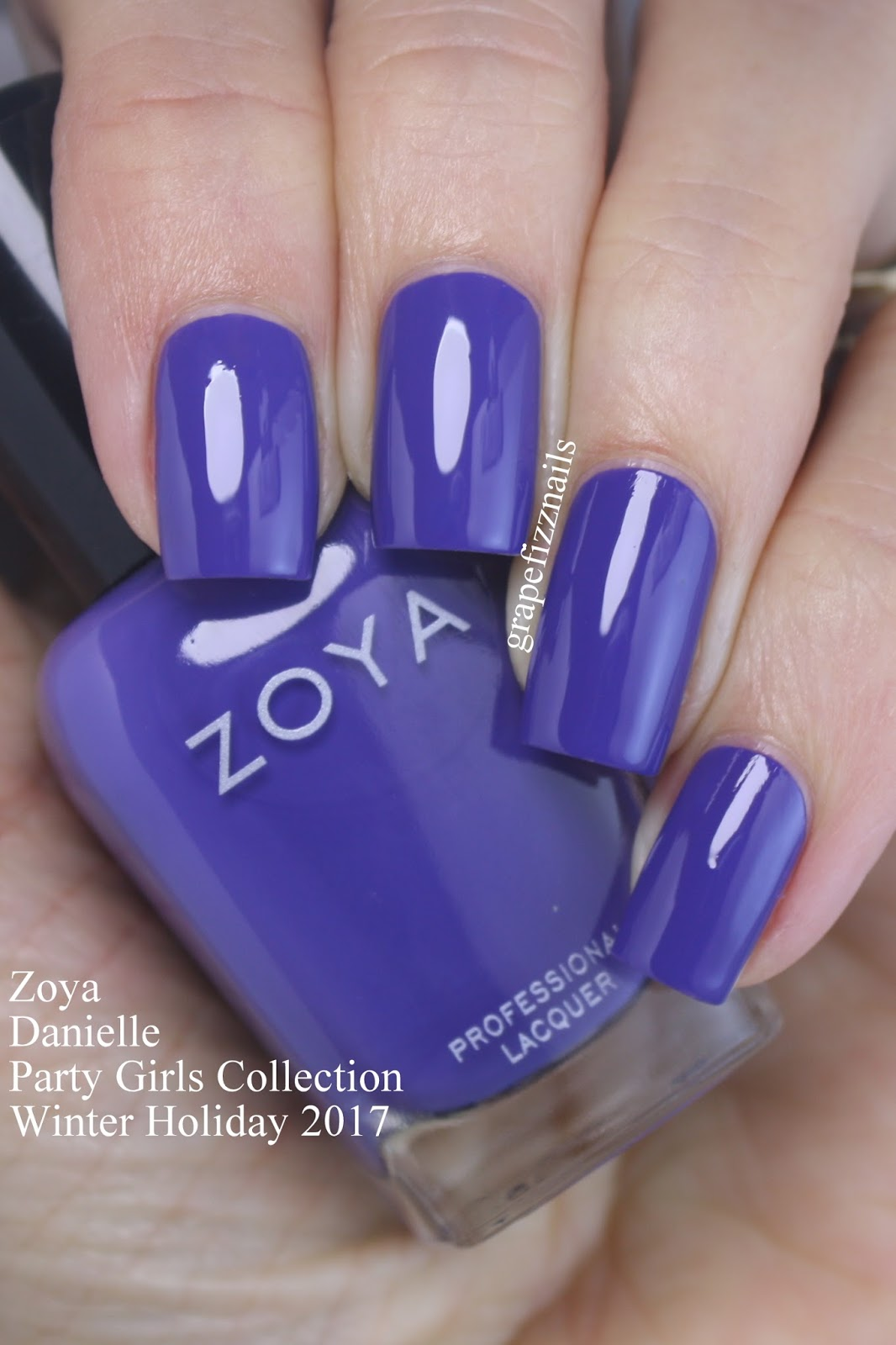 Grape Fizz Nails: Zoya Party Girls Collection Winter Holiday 2017