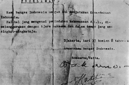 Teks Proklamasi Kemerdekaan Indonesia Tanggal 17 Agustus 1945
