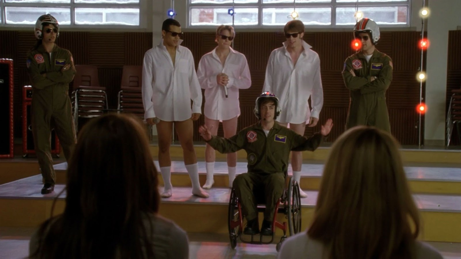 picture The Girls From Glee In Their Underwear
