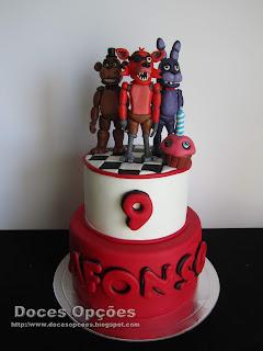 Bolo de aniversário Five Nights at Freddy's
