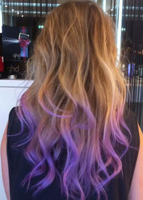 Dip Dyed Colorful Hairstyles The Haircut Web